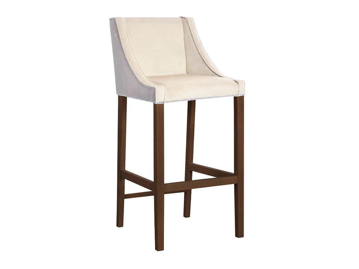Krzesło barowe z oparciem Lauren. Krzesła barowe do kuchni w stylu nowoczesnym i modern classic. Hokery na zamówienie Białystok.