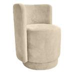 Nowoczesny fotel okrągły Crystal tapicerowany łatwoczyszczącym welurem. Produkt polski wykonywany lokalnie na zamówienie. Tkanina Piano 04