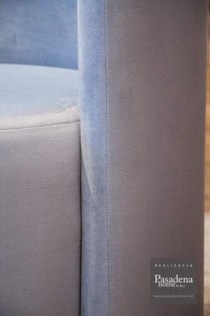 Fotel okrągły hotelowy Crystal tkaniny łatwoczyszczącej Piano 11. Produkcja mebli tapicerowanych na zlecenie hotelu we Francji.