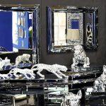Lustro z ramą lustrzaną Matteo do salonu, sypialni i przedpokoju. Prostokątne lustro w lustrzanej ramie można zastosować jako lustro dekoracyjne.