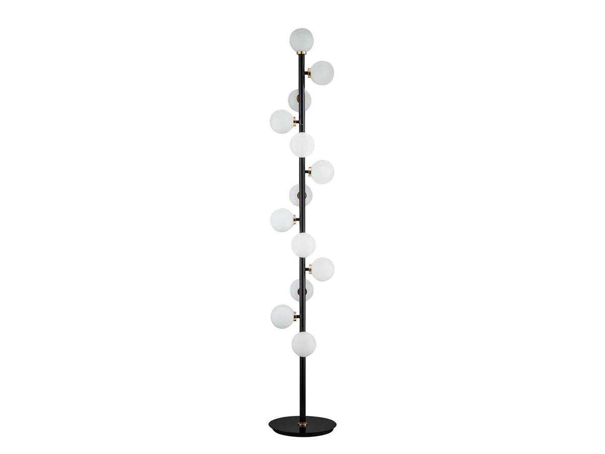 Lampa kule w stylu nowoczesnym Calm. Czarna lampa podłogowa do salonu, przedpokoju lub gabinetu. Oświetlenie podłogowe Białystok.