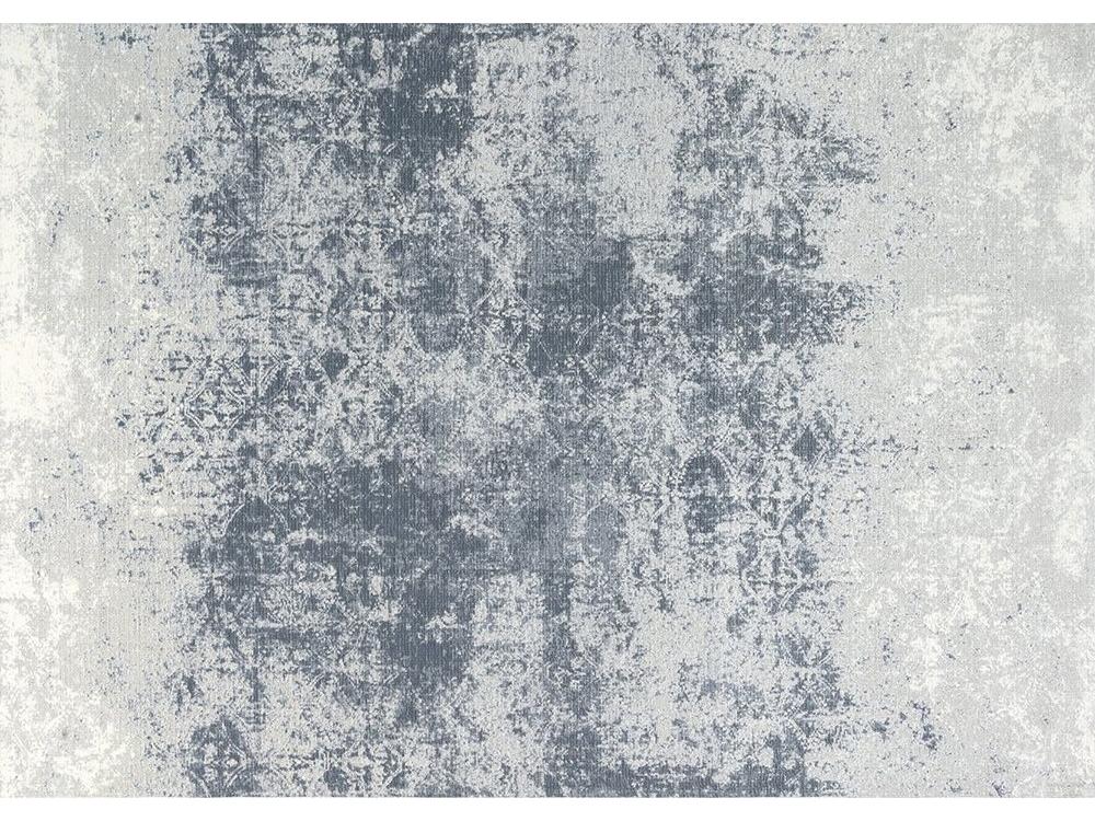 Dywan łatwoczyszczący Illusion Blue Gray z kolekcji Magic Home Fargotex.Dywan do salonu i sypialni w stylu nowoczesnym i glamour.