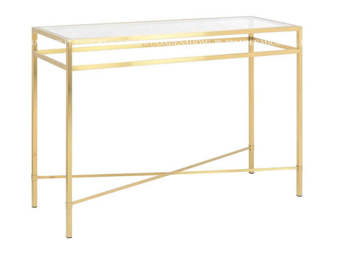 Konsola złota Milano z metalowymi nogami. Konsola przyścienna do przedpokoju i salonu w stylu nowoczesnym na zamówienie.
