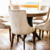Jaki model krzeseł wybrać do jadalni. Krzesła tapicerowane w stylu nowojorskim.