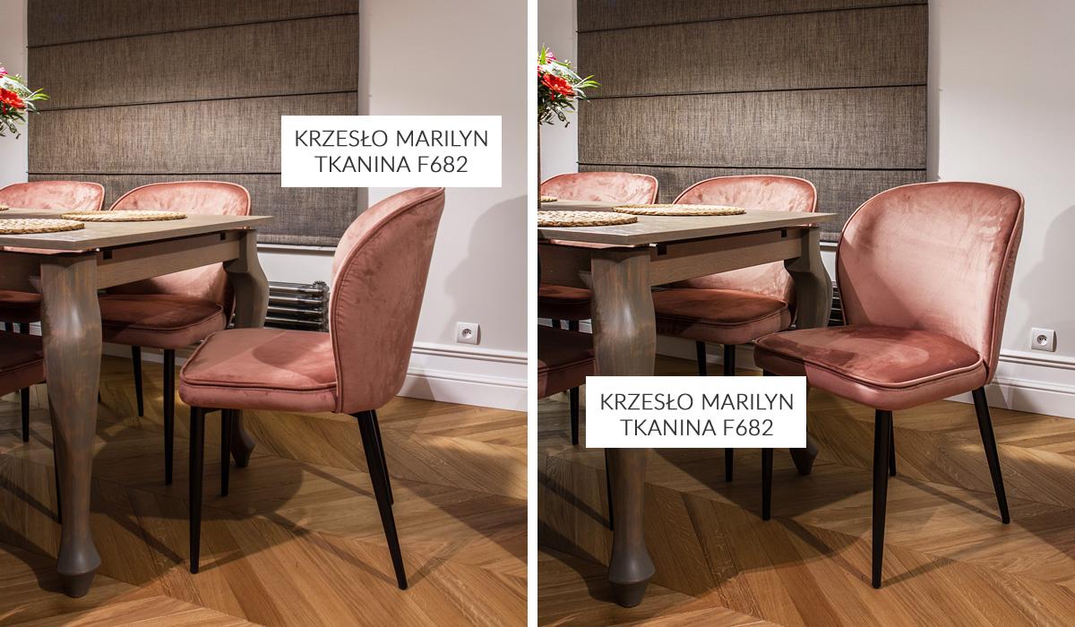 Tkanina obiciowa welur plusz French Velvet o szer. 140 cm. Krzesło Marilyn kolor 682