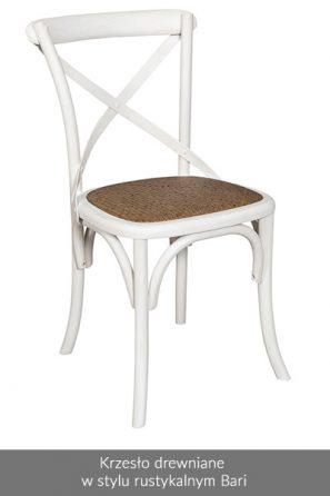 Krzesło drewniane w stylu rustykalnym Bari