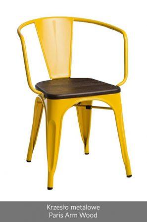 Krzesło metalowe Paris Arm Wood