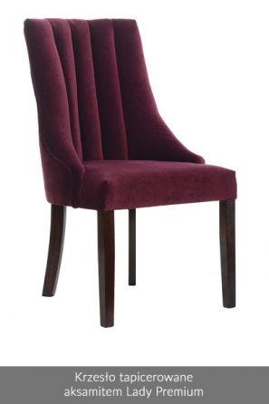 Krzesło tapicerowane aksamit Lady Premium