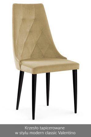Krzesło tapicerowane w stylu modern classic Valentino