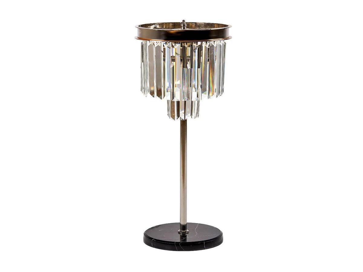 Lampa stołowa z kryształkami Orlando w stylu glamour. Lampa stołowa kryształowa to idealne oświetlenie do salonu, holu, restauracji, hotelu.