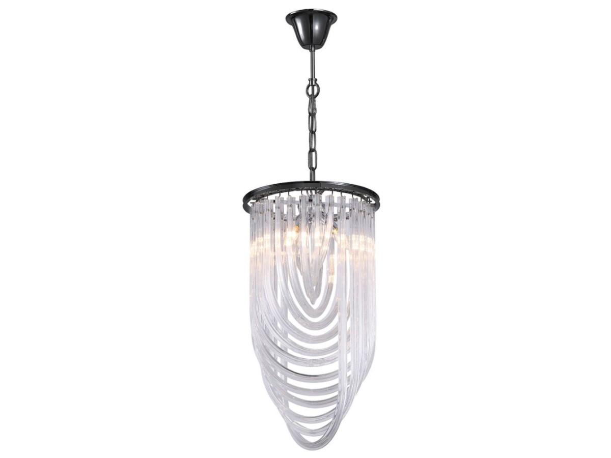 Lampa sufitowa nowoczesna Nemezis II to idealne oświetlenie sufitowe do salonu, holu, restauracji, hotelu. Żyrandol z kryształkami na zamówienie.