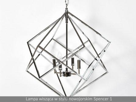 Lampa sufitowa wisząca w stylu nowojorskim żyrandol Glamour 2B