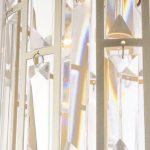 Lampa wisząca z kryształkami w stylu glamour Fargo 2. Żyrandol kryształowy do salonu, holu, rastauracji lub hotelu. Możliwość relulacji wysokości.