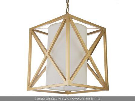 Lampa wisząca w stylu nowojorskim Emma złota