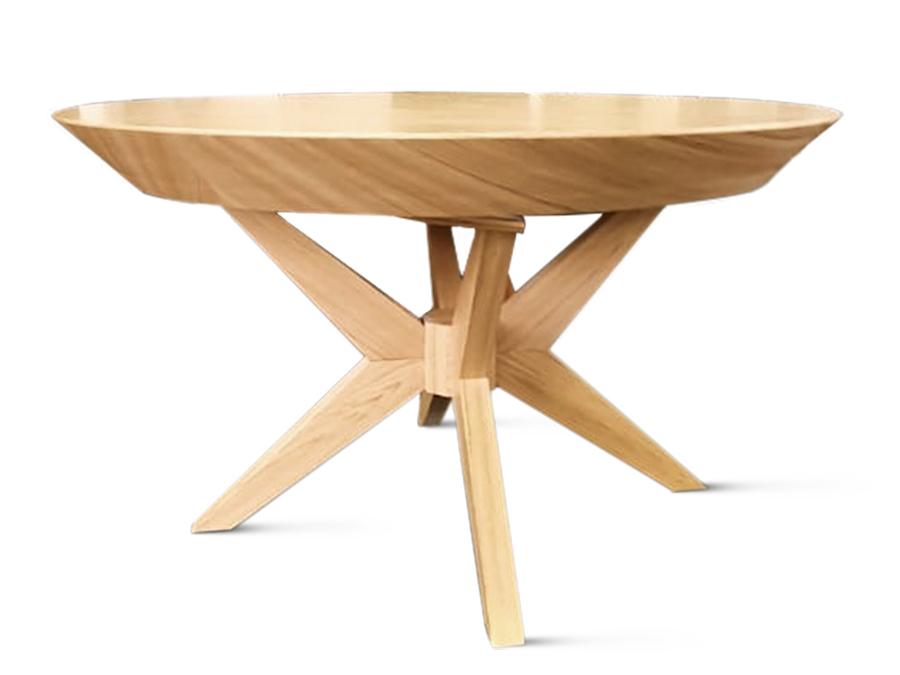 Stół okrągły rozkładany nowoczesny Demi. Stół rozkładany pasuje do kuchni w stylu nowoczesnym. Stoły drewniane do jadalni Białystok.