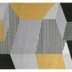 Dywan łatwoczyszczący Metropolis Yellow z kolekcji Magic Home Fargotex. Dywan do salonu i sypialni w stylu nowoczesnym i modern classic.