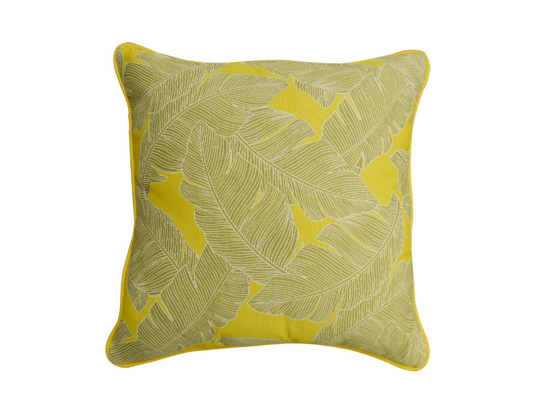 Poduszka ogrodowa 45x45 cm żółty pióra