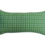 Poduszka ogrodowa 62x30 cm zielony ornament