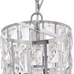 Lampa wisząca z kryształkami w stylu glamour Fargo srebrna. Żyrandol kryształowy znajdzie swoje zastosowanie jako lampa nad stół lub blat kuchenny.