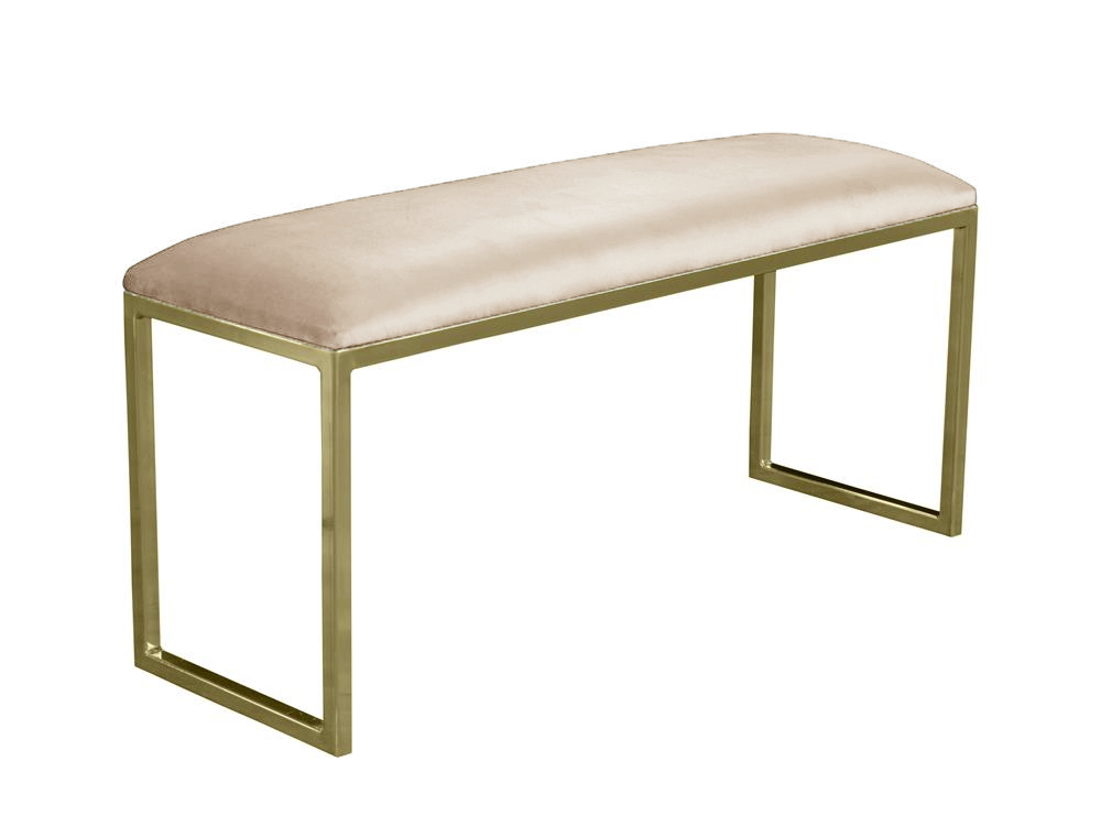 Pufa na metalowych nogach Modena. Pufa do salonu, sypialni i na korytarz. Polecamy nasze meble w stylu nowojorskim i modern classic.