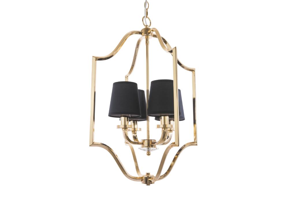 Lampa wisząca w stylu nowojorskim Hampton 7 złota. Lampa sufitowa Hampton 7 znajdzie swoje zastosowanie jako lampa nad stół lub lampa do salonu.