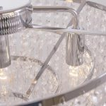 Lampa wisząca z kryształkami w stylu glamour Merkury.