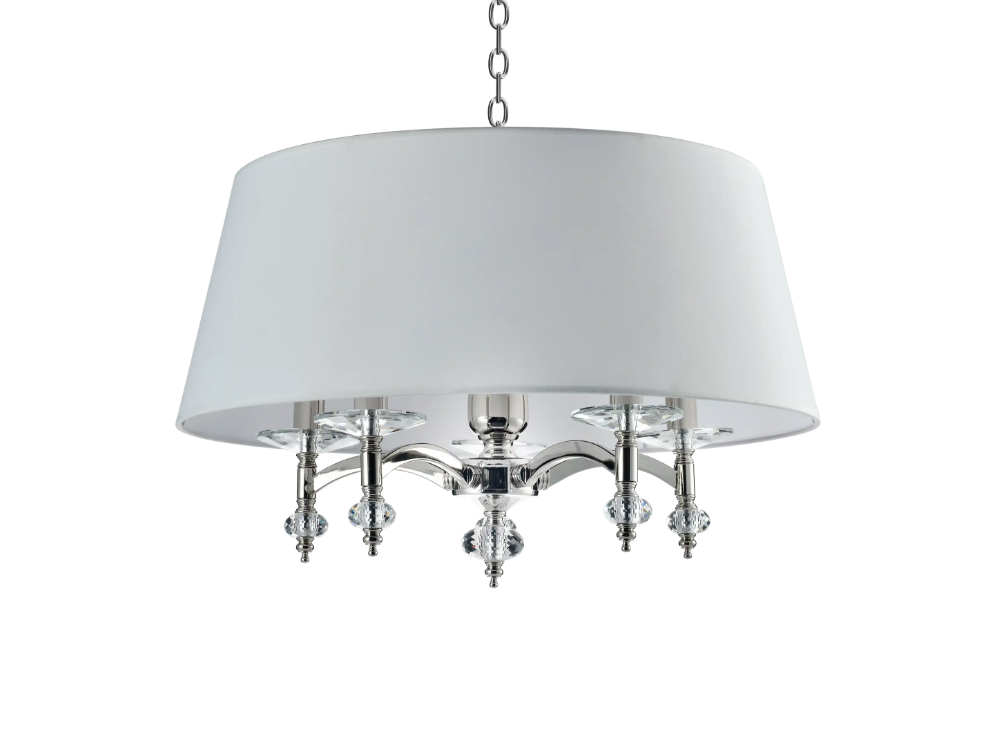 Lampa wisząca z abażurem w stylu nowojorskim Riccardo.