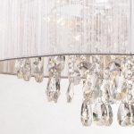 Żyrandol kryształowy Orion 2 do salonu lub jadalni w stylu glamour.