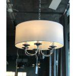 Lampa wisząca w stylu nowojorskim Spencer 3 biały chrom