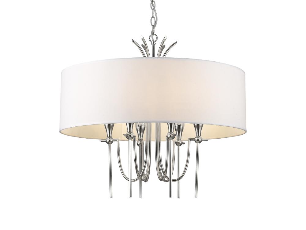 Lampa wisząca w stylu nowojorskim Manchester srebrna. Lampa sufitowa Manchester znajdzie swoje zastosowanie jako lampa nad stół lub lampa do salonu.