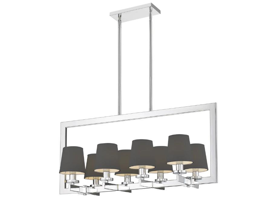Lampa wisząca w stylu nowojorskim Aspen 3 czarna polecana jako lampa do jadalni nad stół. Do zestawienia z kinkietem Aspen.