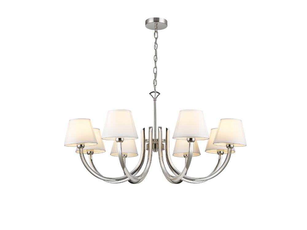 Lampa wisząca z abażurami Abigail. Żyrandol Abigail znajdzie swoje zastosowanie jako lampa nad stół lub lampa do salonu w stylu nowojorskim.