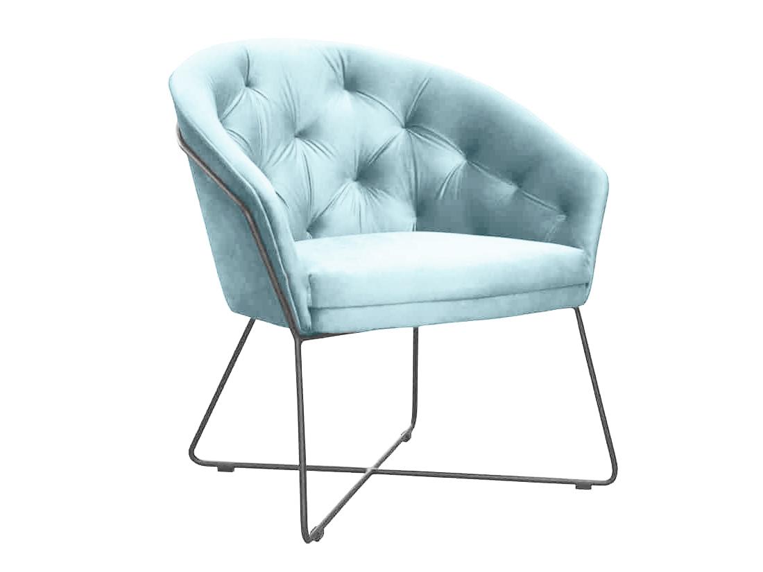 Fotel pikowany Miles na metalowych nogach. Nowoczesne fotele tapicerowane są dostępne na zamówienie w showroomie Pasadena home & deco.