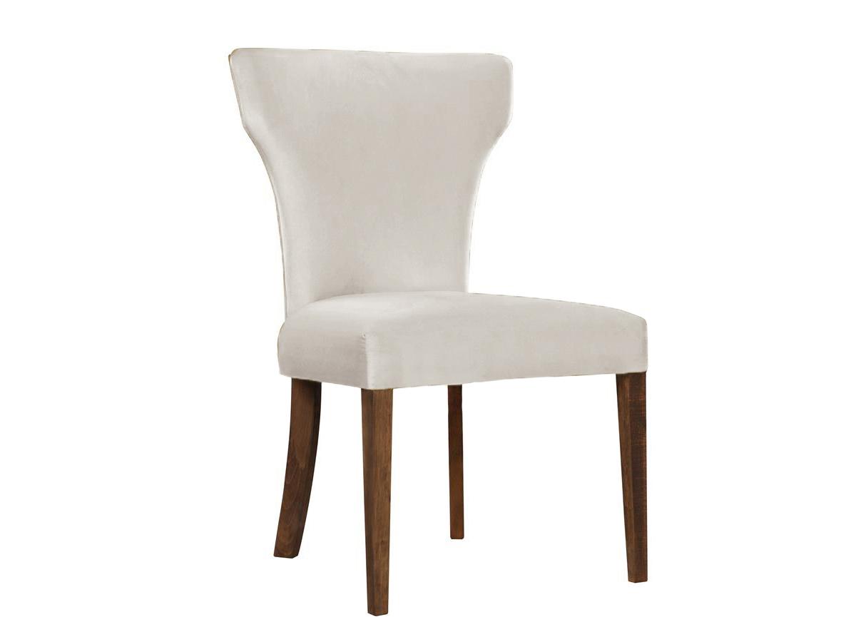 Krzesło nowoczesne Kasey na drewnianych nogach. Nowoczesne krzesła tapicerowane do jadalni są dostępne na zamówienie w showroomie Pasadena home & deco.
