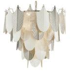 Lampa nowoczesna Panama w kształcie liści. Lampa sufitowa Panama pasuje jako lampa nad stół lub lampa do salonu.Lampy sufitowe Białystok.