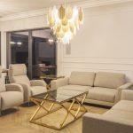 Lampa wisząca w stylu nowoczesnym Panama w kształcie liści. Lampa sufitowa Panama pasuje jako lampa nad stół lub lampa do salonu.Lampy sufitowe Białystok.