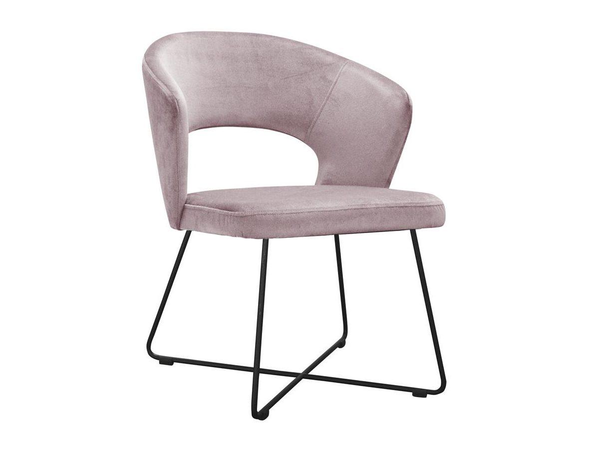 Różowe krzesło nowoczesne Felipe na metalowych nogach. Nowoczesne krzesła tapicerowane do jadalni są dostępne na zamówienie w showroomie Pasadena home & deco.