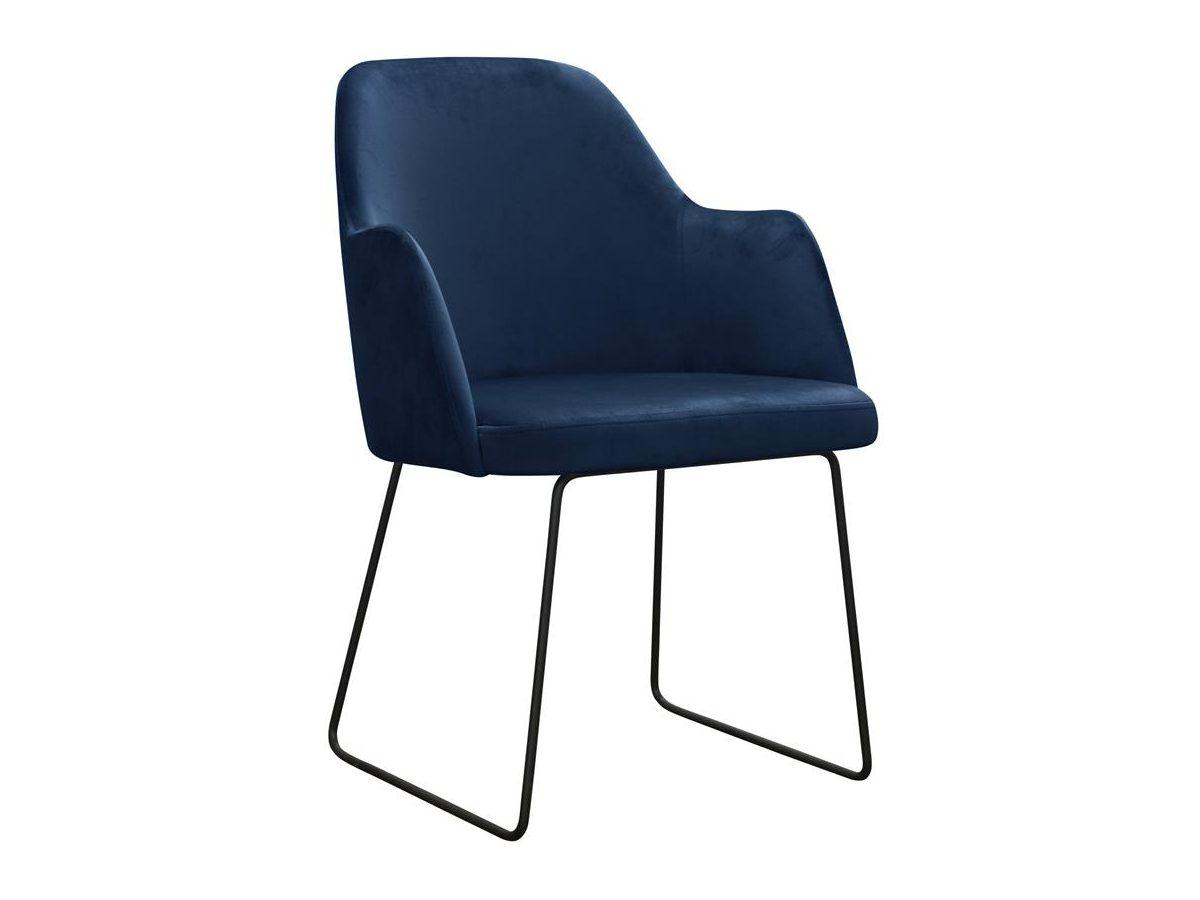 Granatowe krzesło nowoczesne Gracia na metalowych nogach. Nowoczesne krzesła tapicerowane do jadalni są dostępne na zamówienie w showroomie Pasadena home & deco.