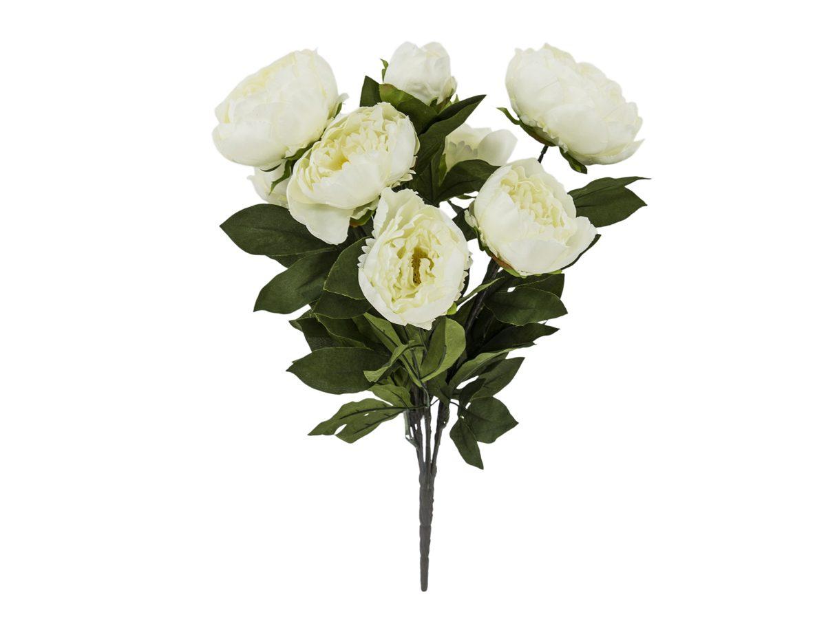 Sztuczne kwiaty piwonie bukiet. W naszej ofercie dostępne są też ozdoby na stół, dekoracje na ścianę, figurki na parapet, świeczniki oraz wazony.