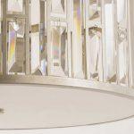 Plafon z kryształkami w stylu glamour Fargo 3. Oświetlenie sufitowe do salonu, holu, rastauracji, hotelu. Idealny do wnętrz także o niskich sufitach.