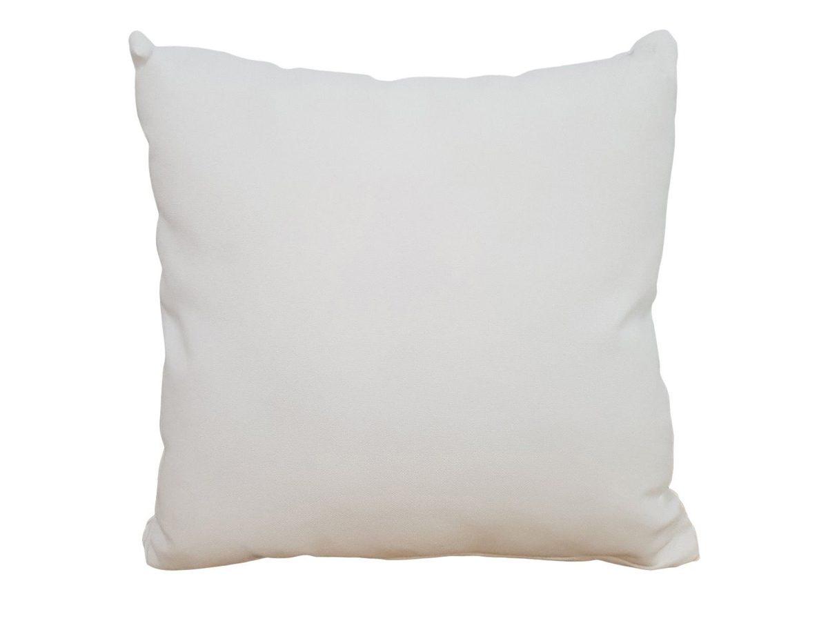 Poduszka dekoracyjna biała Merida 50x50 cm przeznaczona do mebli ogrodowych.