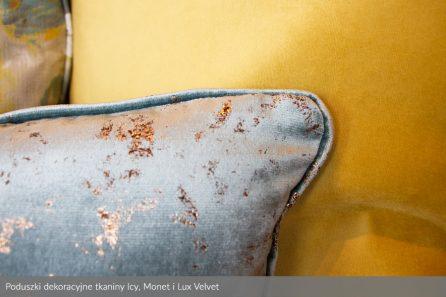 Usługa szycia poduszek dekoracyjnych na wymiar tkanina Icy, Monet i Lux Velvet 3