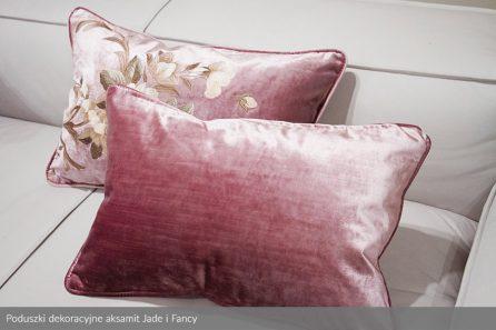 Usługa szycia poduszki dekoracyjnej na wymiar aksamit Jade i Fancy 1