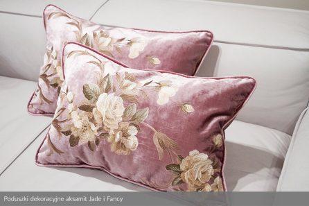 Usługa szycia poduszki dekoracyjnej na wymiar aksamit Jade i Fancy 2
