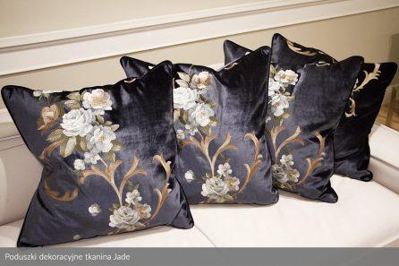 Usługa szycia poduszek dekoracyjnych na wymiar aksamit Jade