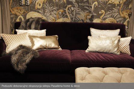 Usługa szycia poduszek dekoracyjnych na wymiar ekspozycja sklepu Pasadena home & deco 2