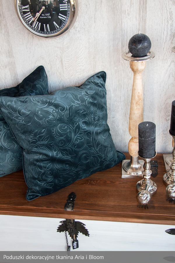 Usługa szycia poduszki dekoracyjnej na wymiar tkanina Aria i Bloom 1