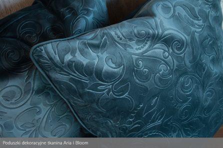 Usługa szycia poduszki dekoracyjnej na wymiar tkanina Aria i Bloom 2