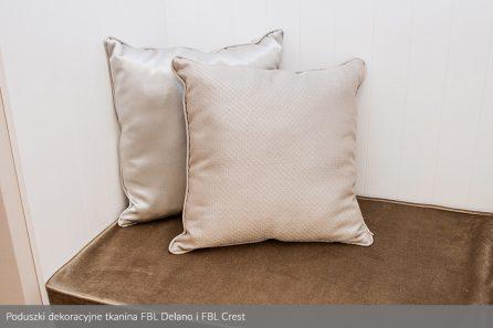 Usługa szycia poduszek dekoracyjnych na wymiar tkanina FBL Delano i FBL Crest 1