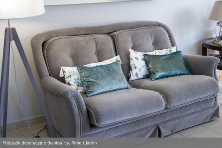 Usługa szycia poduszek dekoracyjnych na wymiar tkanina Icy i Jardin 1